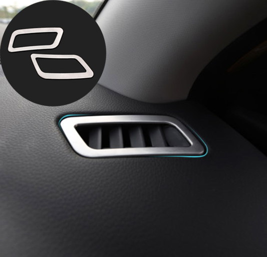 <font><b>ACCESSORIES</b></font> FIT FOR <font><b>NISSAN</b></font> <font><b>QASHQAI</b></font> X-TRAIL 2014 2015 <font><b>2016</b></font> CHROME DASHBOARD AIR VENT TRIM COVER BEZEL GARNISH FRONT INSERT OUTLET image