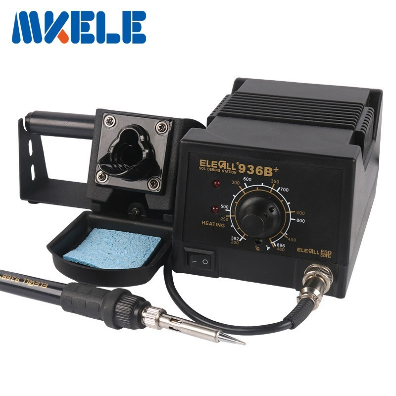 2018 New High-power 75W Industrial grade Lead-free Soldering Station 936B Electric Iron Welding Soldering Rework Repair Tool цена