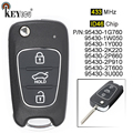 KEYECU 433MHz ID46 Chip Verbesserte Flip Folding 3 Taste Remote Key Fob für Kia Rio Seele Sorento Moring Optima sportage-in Autoschlüssel aus Kraftfahrzeuge und Motorräder bei