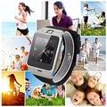Excelvan gv18 smart watch bluetooth 3.0 relógio inteligente para o telefone smartwatch sincronização chamada lembrete música relógio de pulso preto