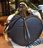 2018 новые модные сумки в форме сердца роскошные сумки женские сумки Дизайн искусственная кожа Сумка через плечо шарф ручка сумка
