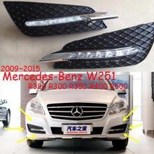 Xe Ốp lưng daylamp cho Xe Mercedes Benz W251 ban ngày ánh sáng R320 R300 R350 R400 R500 phụ kiện ô tô ĐÈN LED DRL BI GẦM LỒI cho W251 sương mù