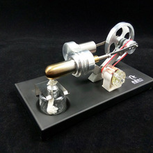 QX-FD-05-M All-metal Stirling engine, external combustion engine, micro-generator birthday gift, teaching experiment diesel engine model internal combustion engine working principle physics experiment equipment teaching instrument