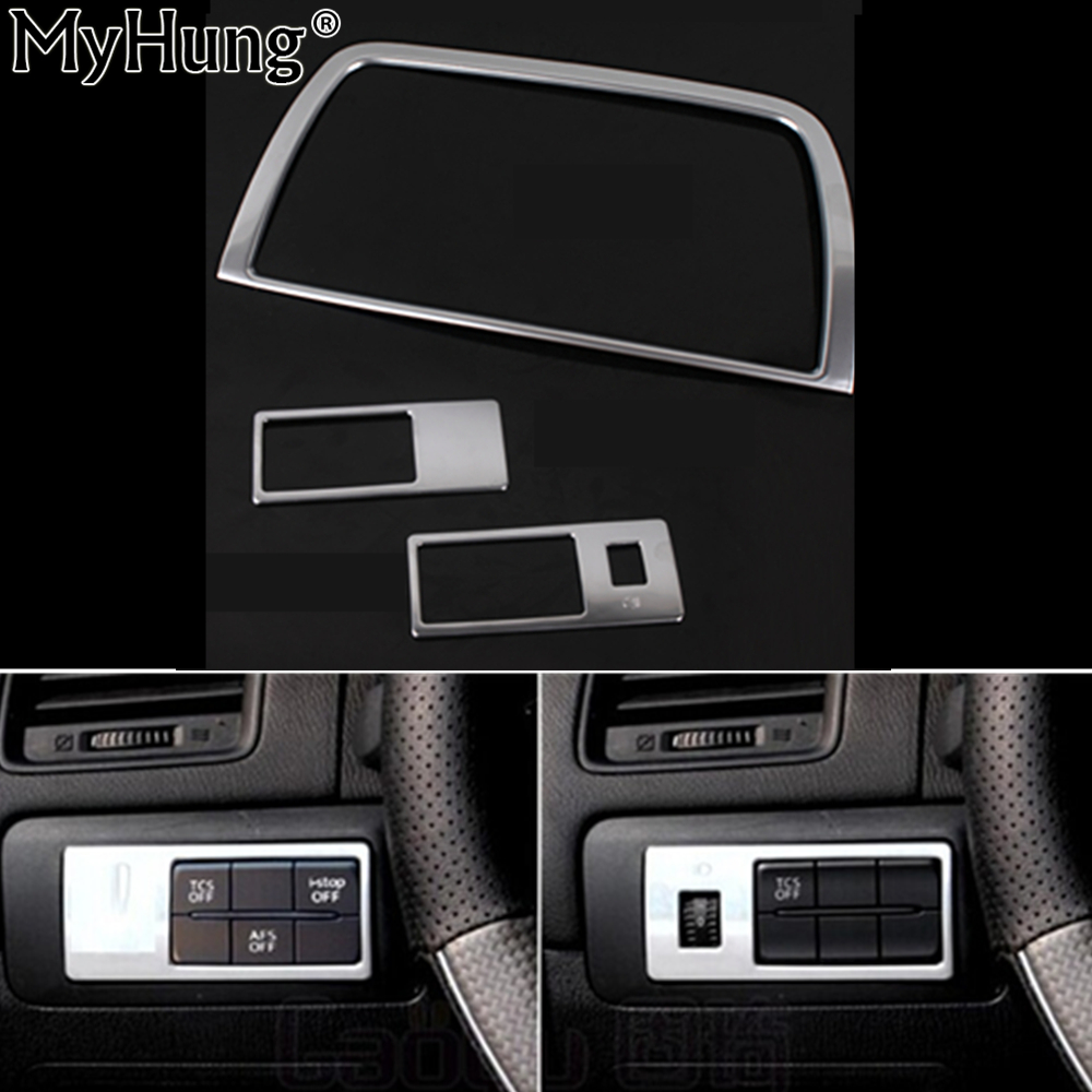 Car styling dvd decoration trim interior frame sticker auto part fit for mazda cx 5 cx5 2012 2013 2014 abs chrome 2pcs