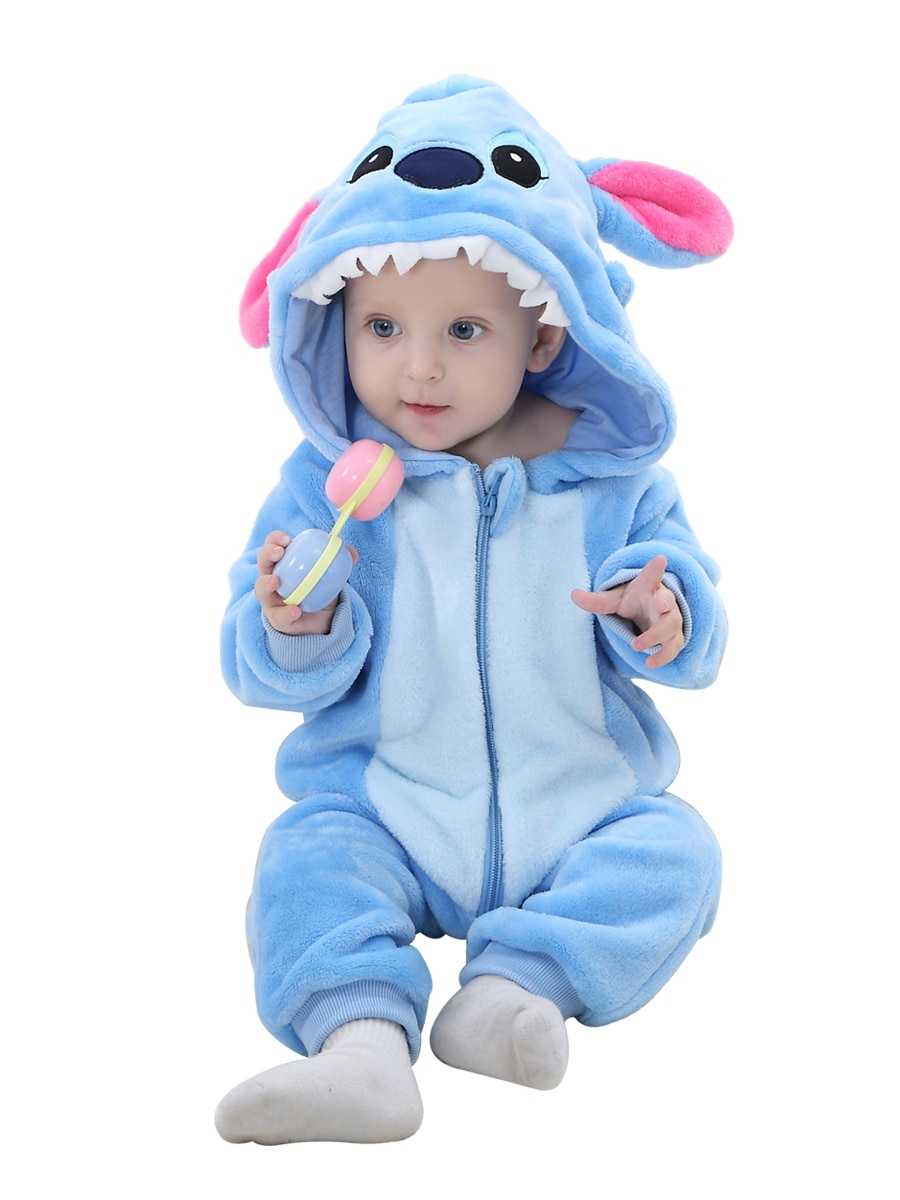 pudcoco Newborn Baby Boys Stitch 3D Ear Zipper Hooded Romper Jumpsuit Outfits baby boy winter warm Plus velvet romper jumpsuit 3 xml t6 2 blue light led headlamp 15000lm usb rechargerable led headlight head lamp 5 mode head torch for fishing lantern light