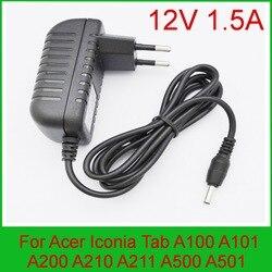 1 piezas AC 100 V-240 V Adaptador convertidor DC 12 V 1.5A fuente de alimentación para Acer A100 A501 ¡PSA18R-120P AP.0180P! ¡002 AP.0180P! 003 de