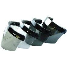 3-snap мотоциклетный шлем в стиле ретро щит объектив Винтаж мотоциклетный шлем стекло с открытым лицом шлем Полетный шлем козырек