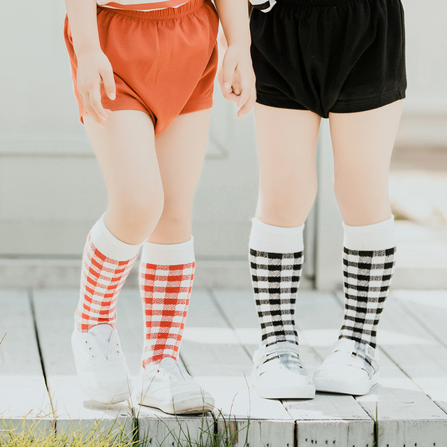641c717b681 Kids Knee High Socks Fashion Baby Socks for Girls Boys Plaid Leg Warmer Long  Tube Sock Children School Wear Cotton Harajuku Cute