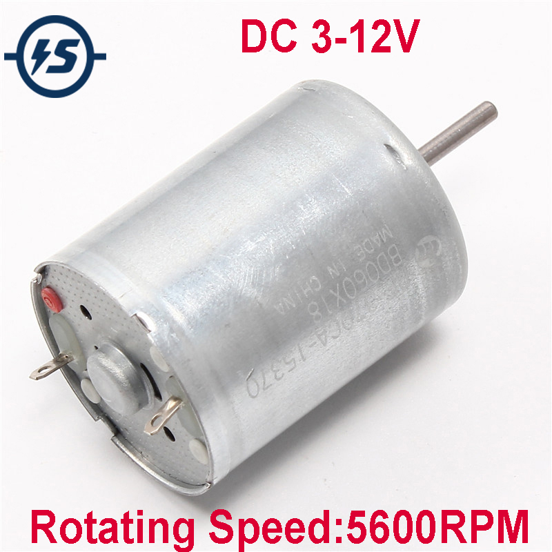 DC 3-12V RF-370 Motor With High Speed Mute Electric Motors For Airplane Model Aeromodelling DIY 5600RPM RF-370CA-15370 image