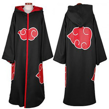 Anime Naruto Akatsuki Member Red Cloud Cosplay Cloak Costume Unisex Cape Holloween Hot Sale
