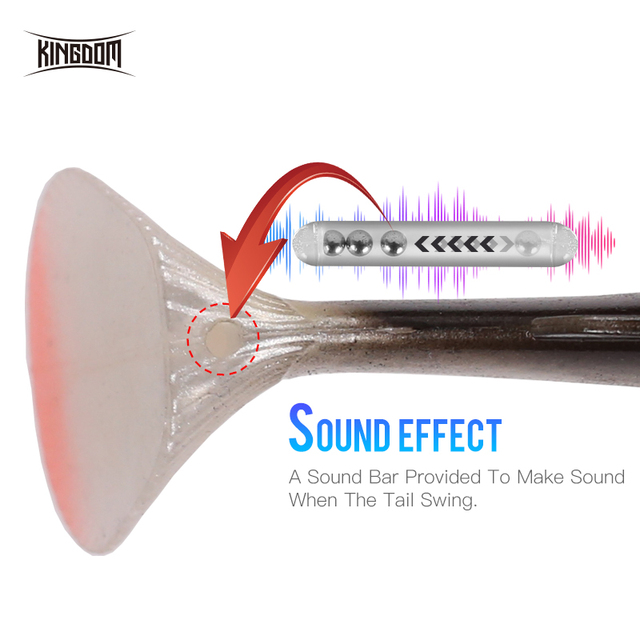 Kingdom 2019 New Crazy Trout Soft Baits 1pc 120mm 38g Lead Head PVC Soft Lure Swimbaits Good Sensitive T-Tail Fishing Lures 3