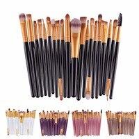 20pcs Pro Makeup Brushes Set Powder Foundation Eye Shadow Eyeliner Lip Brush Tool A2
