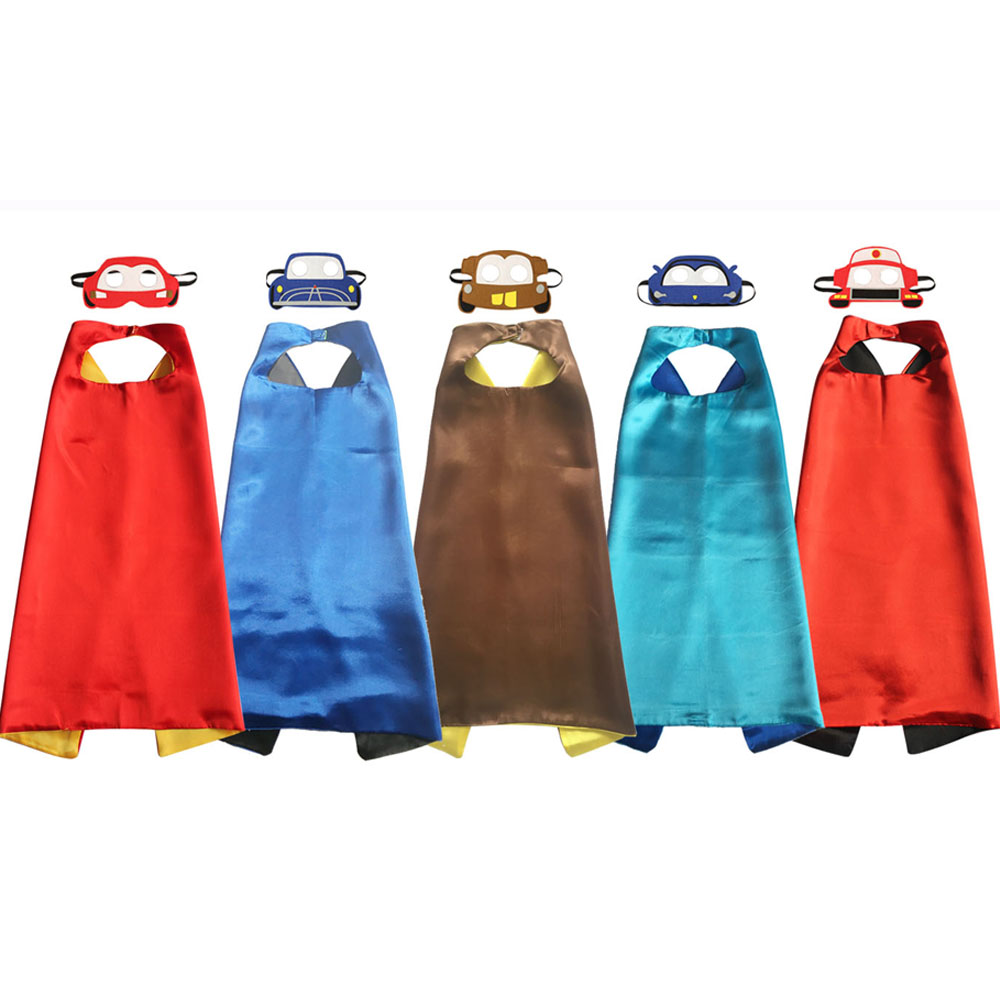 Costume Superhero Capes Lightning Christmas-Gift Kids Jackson Mcqueen Boy Toys Capes-Felt-Masks