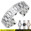 316L Stainless Steel Strap Metal Bracelet Watch Band for Longines Sports Watch L3 CONQUEST 15/17/20/21/22mm Watchband+Free TOOLS