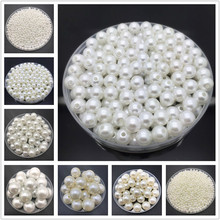 4mm-20mm White Ivory Imitation Pearls Round Pearl Spacer Loose Beads DIY Jewelry Making Necklace Bracelet Earrings Accessories(China)