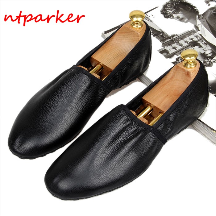 Soft leather Breathable Loafers Men's Flats Handmade Slip on Summer Spring Driving Boats Lazy Shoe Homre Moccasins Casual Shoe vesonal breathable light men moccasins loafers shoes male genuine leather spring summer driving soft flats footwear slip on boat