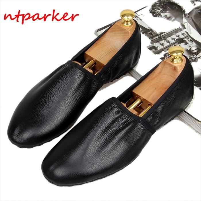 купить Soft leather Breathable Loafers Men's Flats Handmade Slip on Summer Spring Driving Boats Lazy Shoe Homre Moccasins Casual Shoe по цене 6585.56 рублей