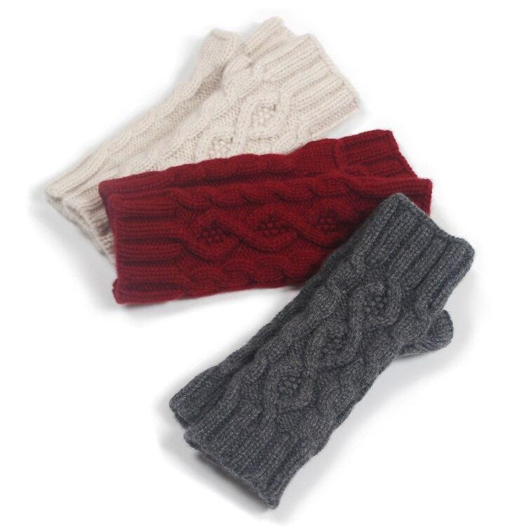 Pur cachemire main-tricot épaississement mitaines gants hiver extended main hommes et femmes
