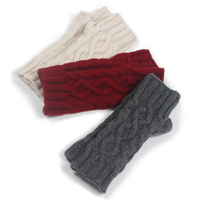 Pure cashmere hand knit thickening fingerless gloves winter extended hand men and women