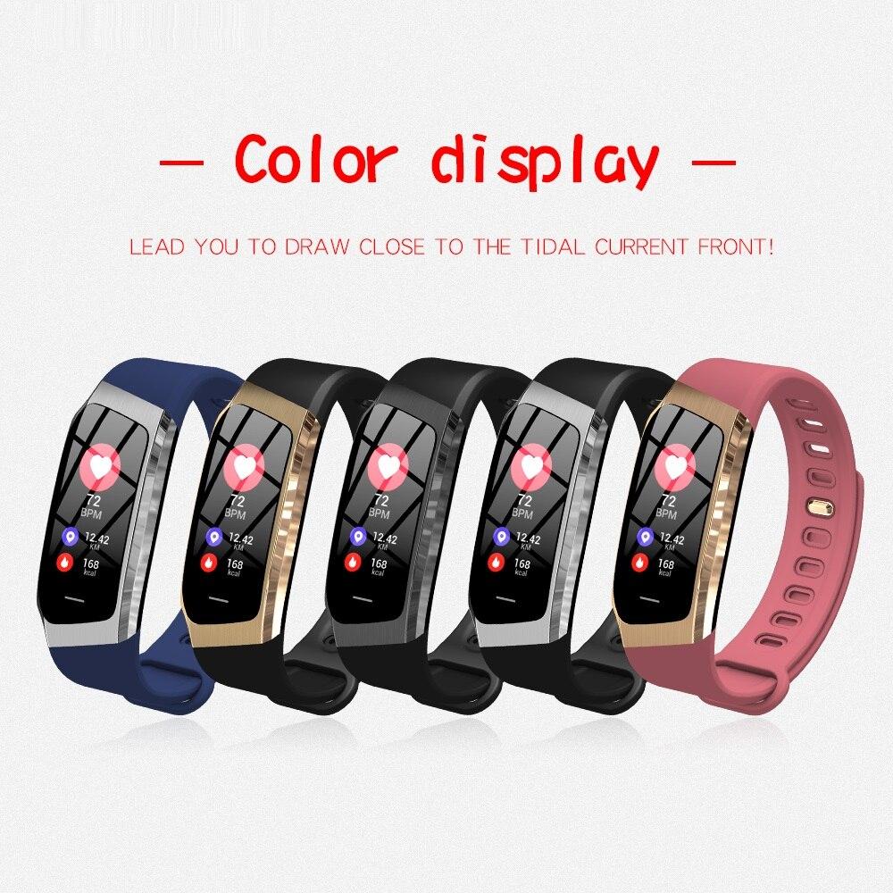 Смарт часы с Bluetooth, умные Цвет Сенсорный экран для мужчин женщин Детский Браслет спортивный браслет Хуа Вэй Сяо mi полосы для IOS Android E18