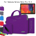 For Samsung Galaxy Note Pro 12.2 P900 P901 P905 12.2'' Tablet 4 in 1 Portable Cotton Fabric Handle Carrying Sleeve Case Bag