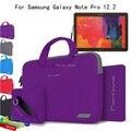 Para samsung galaxy note pro 12.2 p900 p901 p905 tablet de 12.2 ''Tecido de Algodão de 4 em 1 Portátil Alça de Transporte Sleeve Case Bag