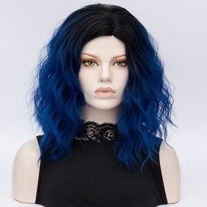 Синтетический двухтональный короткий парик Hair Style10, 613, черные и черные волосы