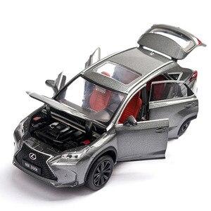 Image 2 - 1/32 לקסוס LX570/NX200t סימולציה צעצוע מכונית מודל סגסוגת למשוך בחזרה ילדי צעצועי אמיתי רישיון אוסף מתנה Off  כביש רכב