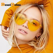 DesolDelos 2019 New Trend Ladies Sunglasses Transparent Frameless Fashion Personality UV400