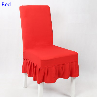 Remarkable Us 3 0 Red Colour Lycra Chair Cover With Skirt All Around The Chair Half Style Spandex Chair Cover Wedding Party Home Decoration In Chair Cover From Gmtry Best Dining Table And Chair Ideas Images Gmtryco