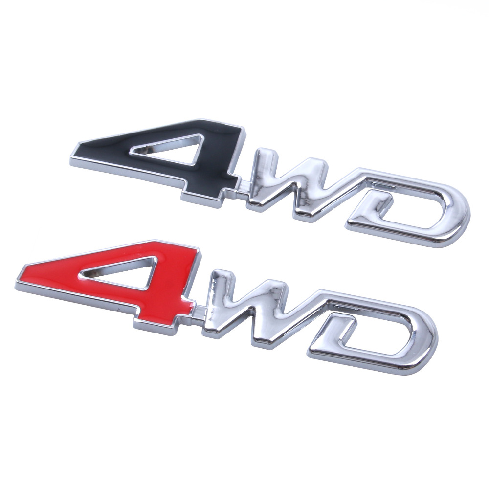 Car Styling 3D Chrome Metal <font><b>Sticker</b></font> 4WD Emblem <font><b>4X4</b></font> Badge Decal SUV Rear Trunk <font><b>Off</b></font>-<font><b>road</b></font> For Toyota Highlander RAV4 Tiguan Honda image