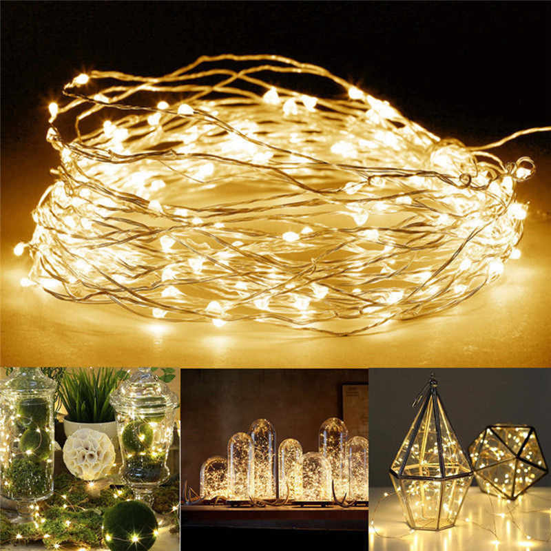 1M 2M 3M 5M LED String lights For Christmas New Year Party Wedding Home Decoration Photo Clip Holder Fairy lights Battery