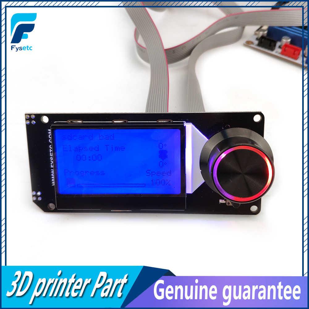 TypeA mini12864pantalla LCD mini 12864 V 2,1 pantalla RGB retroiluminación negro soporta Marlin DIY para SKR con piezas de impresora SD 3D