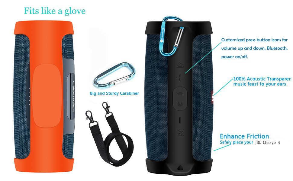 100% nowy Carry podróży wysokiej jakości silikonowy futerał pokrywa dla JBL opłata 4 Chareg4 przenośny wodoodporny bezprzewodowy głośnik bluetooth