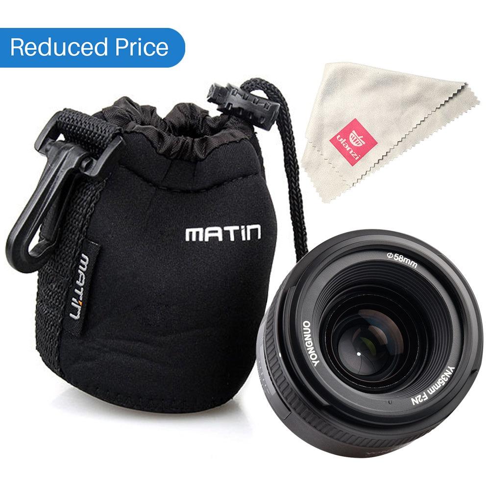 Ulanzi Yongnuo YN35mm F2N Lens Wide-angle Large Aperture Fixed Auto Focus Lens for Nikon D7100 D3200 D3300 D3100 D5100 D90