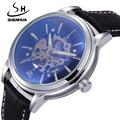 Mechanical Men Watches Top Luxury Brand SHENHUA Male Waterproof Clock Machinery Watches Automatic Self Wind Skeleton Wrist Watch