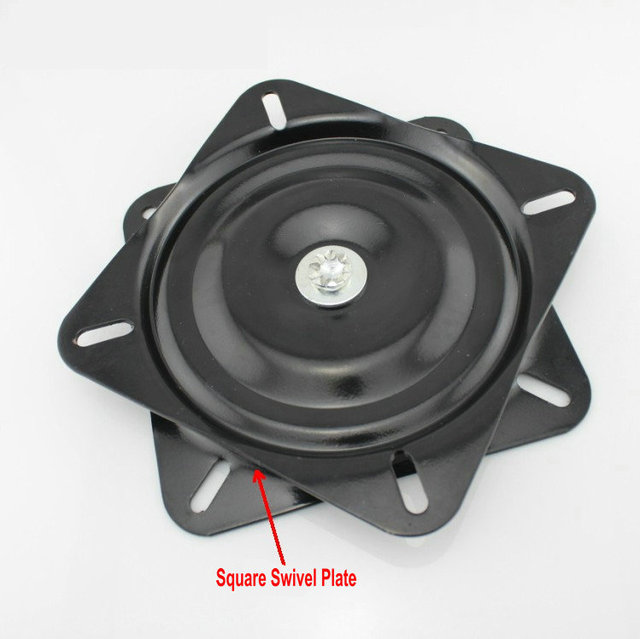 Wholesale 12Inch(300MM) Thicken Steel and Full Solid Steel Ball Bearing Square Swivel Plate,Chair Swivel, Swivel Turntable