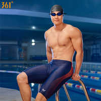 361 Men Swimwear Chlorine Resistant Swim Trunks for Men Plus Size Athletic Jammer Swimwear Competition Swim Shorts Boys Swimsuit