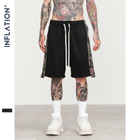 INFLATION Men Side Stripe Camouflage Casual Shorts Draw Rope Male Shorts Men Summer New Fashion Streetwear Shorts For Men 8412S