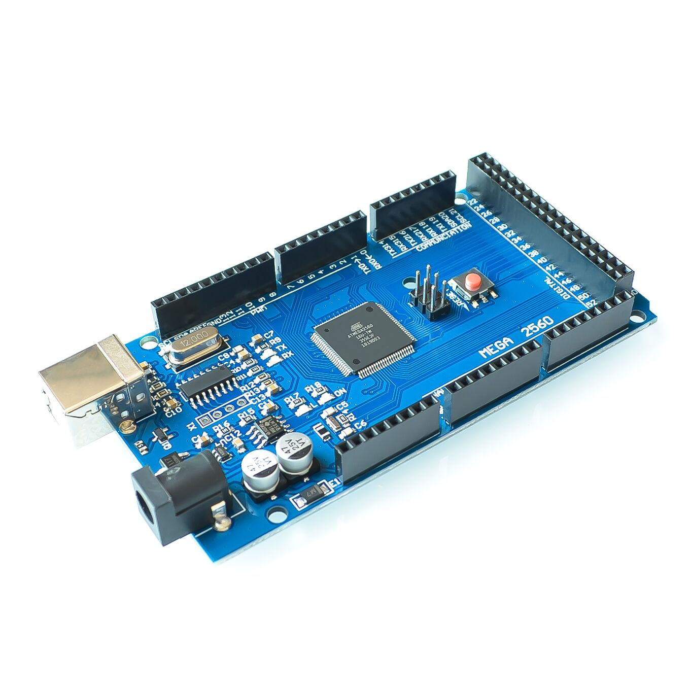 Free shiping !!! 10sets Mega 2560 R3 Mega2560 REV3 ATmega2560-16AU Board + USB Cable compatible for arduino