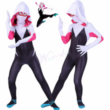 Spider Gwen Stacy Costume Women Girls Venom Spiderman Cosplay Halloween Zentai Suit Superhero Bodysuit Jumpsuits