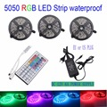 5050 smd RGB led strip light 30leds/m ip65 waterproof 5M 10M 15M LED tape 12V  ribbon set+44 key rgb controller+adapter