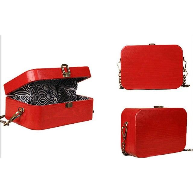 91be99ac06 Trong original handmade vintage treasure box wood bag arbor wooden chain  messenger bag horizontal vertical style