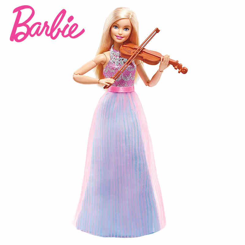 Barbie Doll Violin Refresh Toys Christmas Present For Girls  Violinist Best Gift Birthday DLG94-in Dolls From \u0026 Hobbies On ...