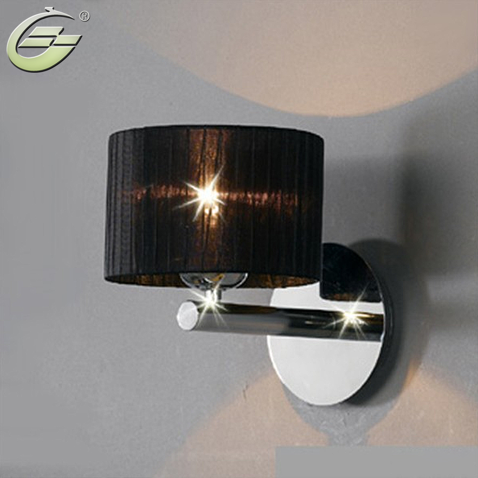 simplicity modern hotel wall lamp sconce chrome light bedroom lighting fixtures - Wall Lamps For Bedroom