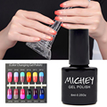 2016 New Brand MICHEY Thermo Nail Polish Long Lasting Led uv Gel Nail Polish High Quality Soak Off Nail Gel 1PCS Free Shipping