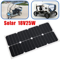 25W 18V Solar Panel Flexible Boat Car Vehicle Auto Solar Energy Battery Charger Solar Cells Outdoor Power Bank