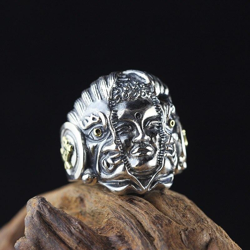 Thai argent S925 bijoux en argent hommes bague bouddha main SeikoThai argent S925 bijoux en argent hommes bague bouddha main Seiko