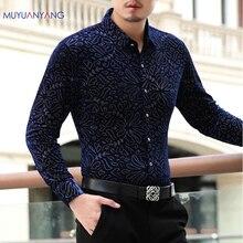 Mu Yuan Yang 2020 nowy Casual męska długi rękaw skręcić w dół kołnierz koszula z wysokiej jakości koszule Slim Fit letnia koszula 50% zniżki