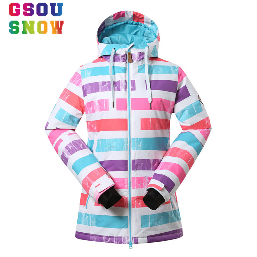 -30 Degree Women Ski Jacket Thermal Gsous Snow Snowboard Jackets Waterproof Breathable Female Candy Color Ski Sports Clothing sofa cushion printed pillow case